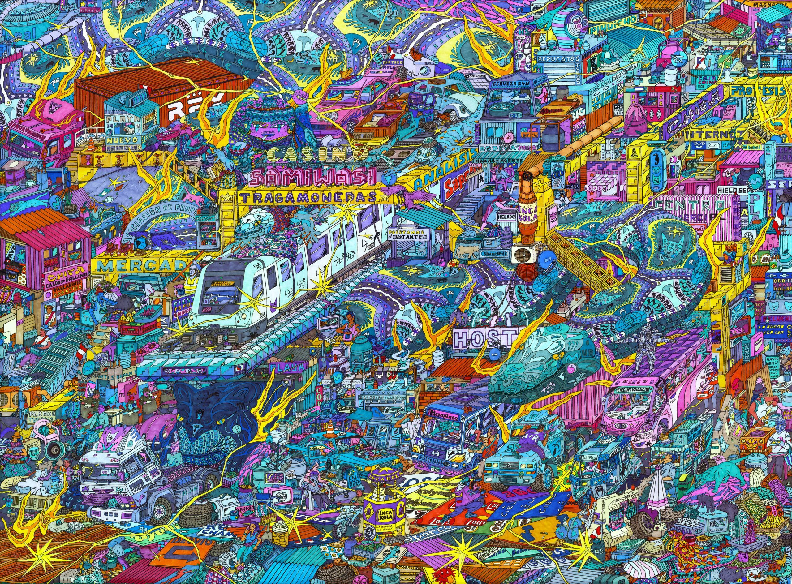 Ficciones: Cartografías de una ciudad – Individual de Alexandre Cornet (Miks). Curaduría: Diana Guarderas